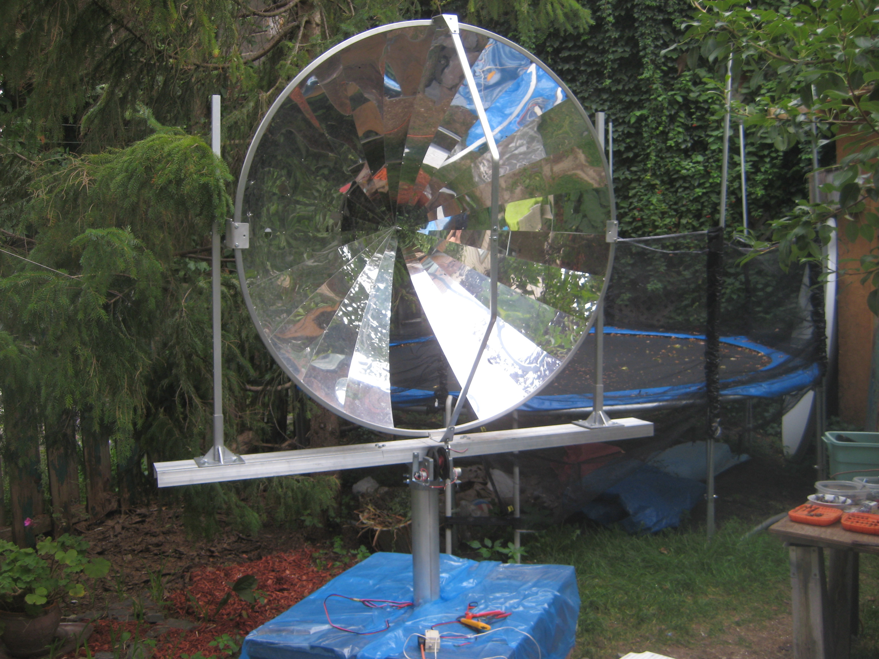 Solar Concentrator With Energy Storage In Cooking Salt